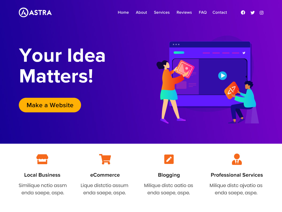 astra song wordpress theme free