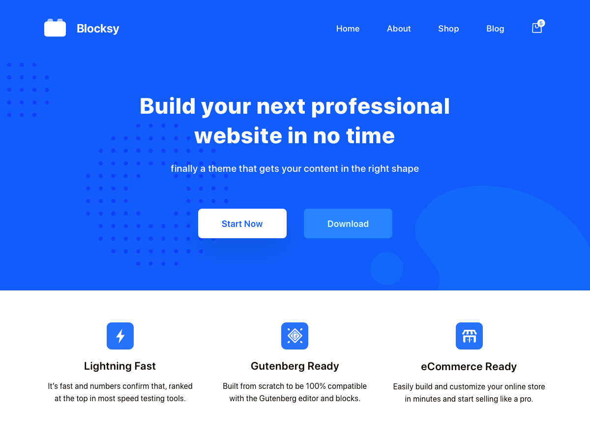 Blocksy song wordpress theme free