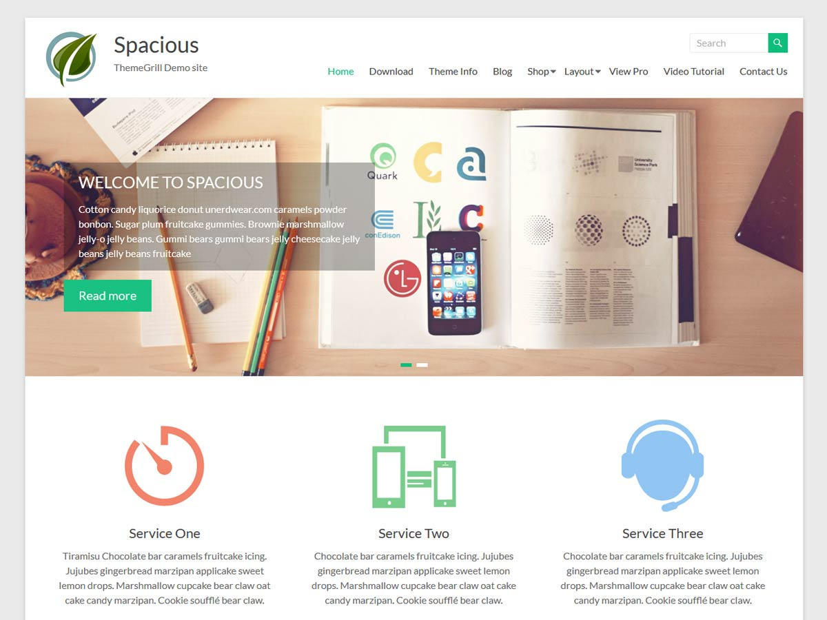 Spacious song wordpress theme free