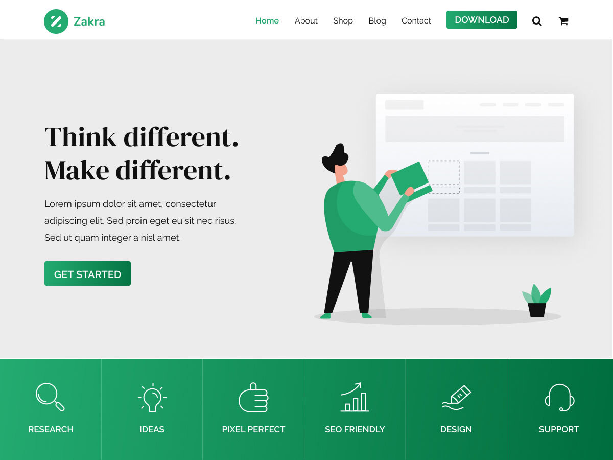 Zakra song wordpress theme free